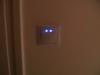 LEDes jelzőfénnyel ellátott csillárkapcsoló