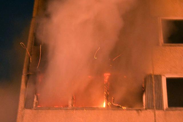 Tűz volt egy pesti panelben 1. kép