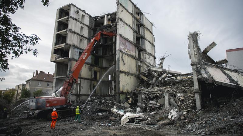 A panelházban egykor még 250 lakás volt/ Fotó: MTI - Sóki Tamás