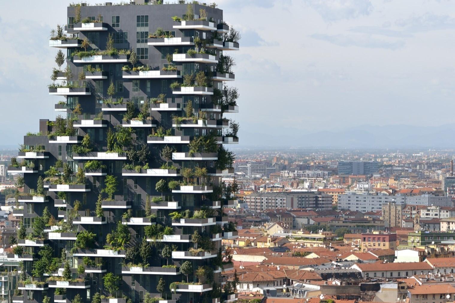 A Milánóban már létező vertikális erdő adja a mintát