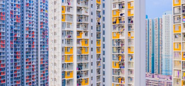 A hongkongi panelrengeteg égimeszelői